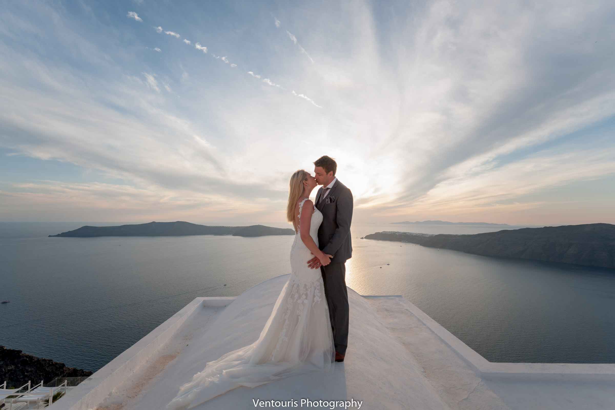 Mark's and Ceciley's wedding in Santorini island